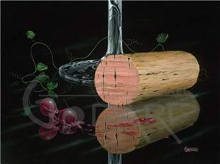 """Michael Godard Giclee on Canvas """"TOTALLY CORKED"""""""