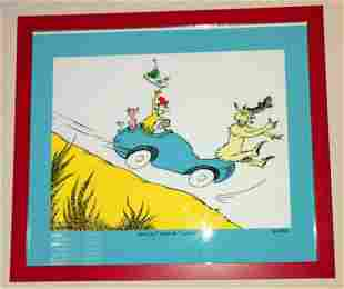 "Dr. Seuss Lithograph on Somerset Paper ""Would you Could"
