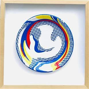 Roy Lichtenstein Screenprint on paper plate