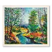 """Dimitri Polak (1922-2008), """"Autumn Stream"""" Hand Signed"""