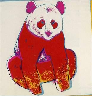 """Andy Warhol- Screenprint in colors """"Giant Panda"""""""