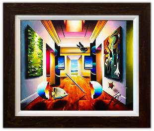"Ferjo- Original Oil on Canvas ""Monet and Miro"""
