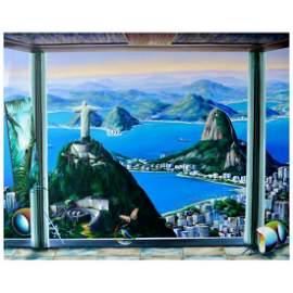 "Ferjo, ""Brazilian Paradise"" Original Painting on"