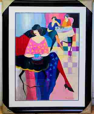 Itzchak Tarkay Hand signed and numbered serigraph on