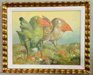 S.Y. SUDER Original Oil painting on board