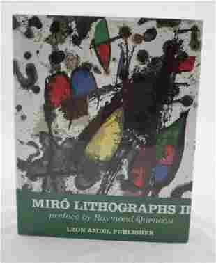 Joan Miro Lithographs Volume II Book