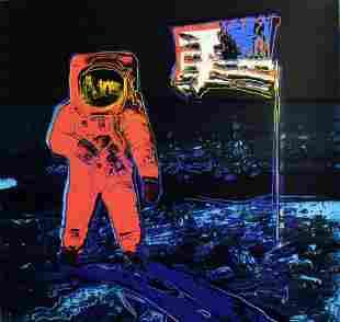 "Andy Warhol- Screenprint in colors ""Moonwalk, 1987"""