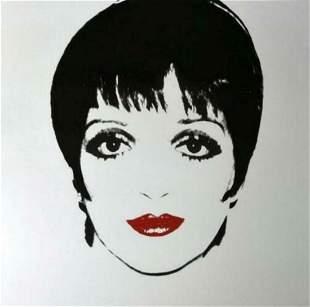 "Andy Warhol- Screenprint in colors ""Liza Minnelli,"