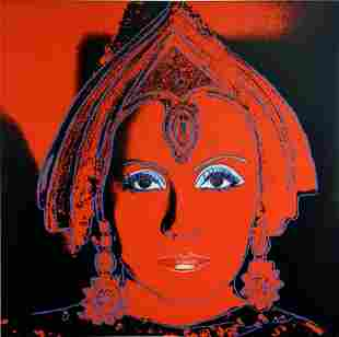Andy Warhol- Screenprint in colors with diamond dust