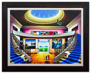 "Ferjo- Original Oil on Canvas ""Light From Above"""
