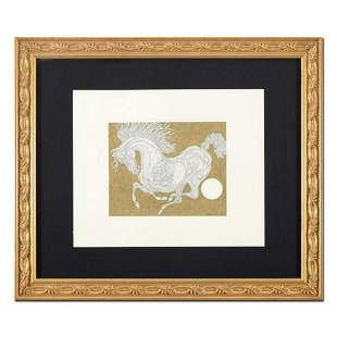 "Guillaume Azoulay, ""Sketch"" Framed Original Pen and Ink"