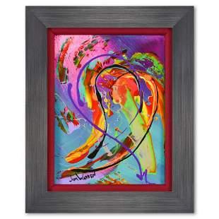 "Jim Warren, ""Love"" Framed Original Painting on Canvas,"