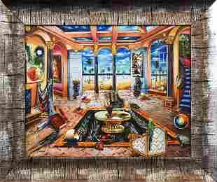 "Alexander Astahov- Original Giclee on Canvas ""Beach"
