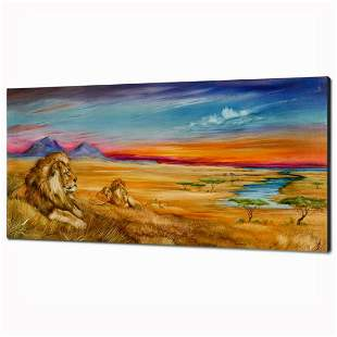 """""""Pride Of Lions"""" Limited Edition Giclee on Canvas (36"""""""