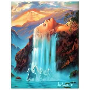 """Jim Warren, """"Daydreams"""" Hand Signed, Artist Embellished"""