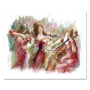 """Lena Sotskova, """"Concert"""" Mixed Media Original Painting,"""