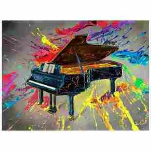 """Jim Warren, """"Very Grand Piano"""" Hand Signed, Artist"""