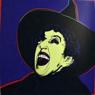 """Andy Warhol- Screenprint in colors """"Witch"""""""