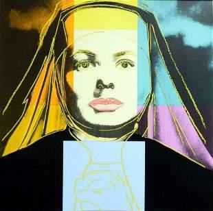 """Andy Warhol- Screenprint in colors """"INGRID BERGMAN 314"""""""