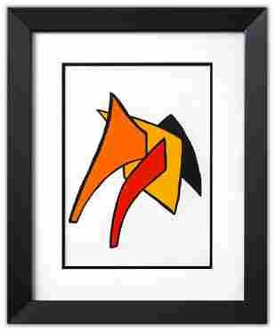 "Alexander Calder- Lithograph ""DLM141 - Lune jaune et"