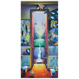 """Ferjo, """"Life Outside the Door"""" Original Painting on"""