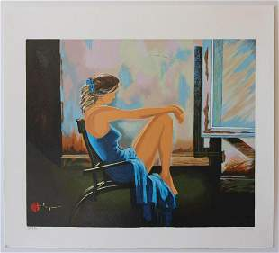 "Alexander Borewko- Original Serigraph on Paper ""Lady In"