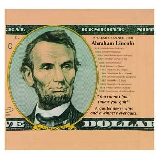 "Steve Kaufman (1960-2010), ""Abraham Lincoln"" Limited"