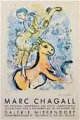 Marc Chagall Original exhibition stone lithograph