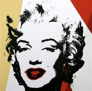 "Andy Warhol- Silk Screen ""Golden Marilyn 11.37"""