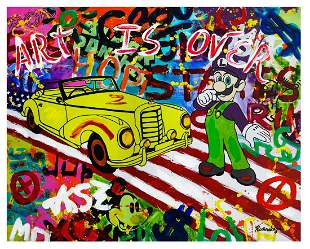 "Nastya Rovenskaya- Mixed Media ""About To Drive"""