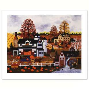 """Jane Wooster Scott, """"Textures of Autumn"""" Hand Signed"""