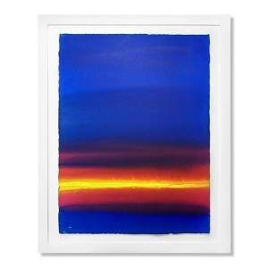 "Wyland, ""Abstracting 3"" Framed Original Watercolor"