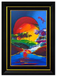 "Peter Max- Original Mixed Media ""Without Borders"""
