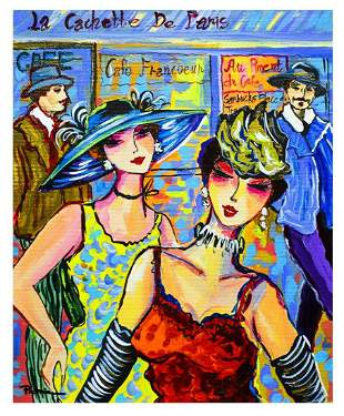 "Patricia Govezensky- Original Acrylic on Canvas ""The"