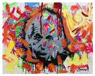 "Nastya Rovenskaya- Mixed Media ""Einstein is Right"