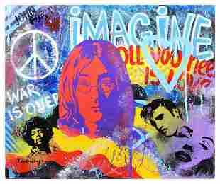 "Nastya Rovenskaya- Original Oil on Canvas ""Imagine"""