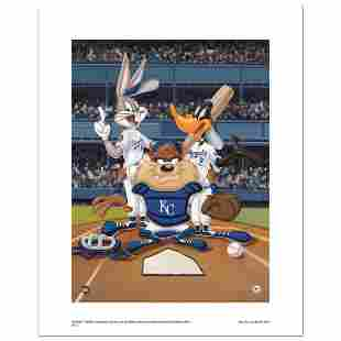 """At the Plate (Royals)"" Numbered Limited Edition Giclee"