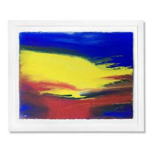 "Wyland, ""Abstracting 4"" Framed Original Watercolor"