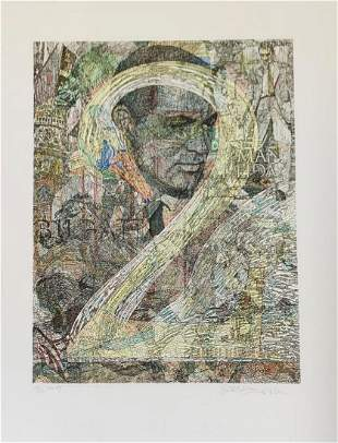 Guillaume Azoulay  Hand Pulled Etching with hand