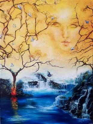 "Sandy Murphy Print on canvas ""Conception"""