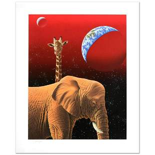 """""""Our Home Too I, Elephants"""" Limited Edition Serigraph"""