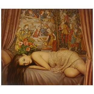 """Anatoly Petkevich, """"Boudoir"""" Limited Edition on Canvas,"""