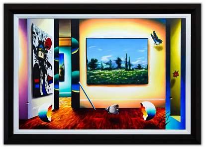 "Ferjo- Original Oil on Canvas ""Bold Landscape"""