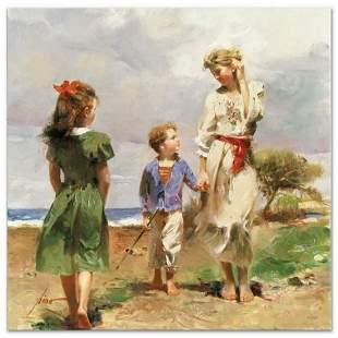 """Pino (1939-2010), """"Seaside Retreat"""" Artist Embellished"""