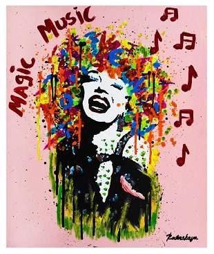 """Nastya Rovenskaya- Mixed Media """"Marilyn Monroe is"""
