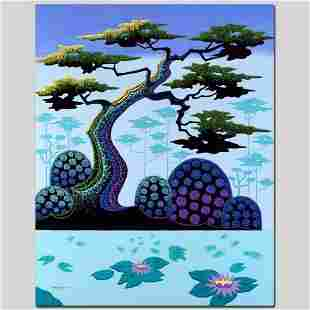 """""""Lotus by Moonlight"""" Limited Edition Giclee on Canvas"""