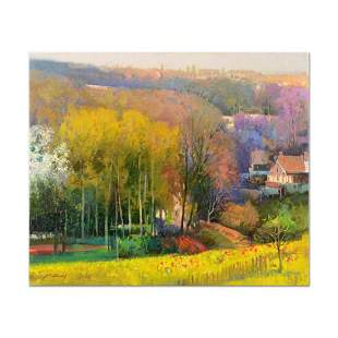 """Ming Feng, """"Golden Valley"""" Original Oil Painting on"""