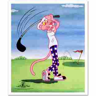 """Pink Panther Golfing"" Limited Edition Sericel"