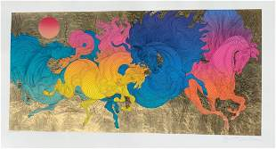 Guillaume Azoulay  Serigraph on paper with hand laid