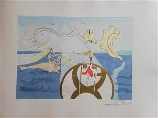 """Salvador Dali Original Lithograph """"From: Hommage to"""